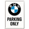 Pocztówka 14x10 cm BMW Parking Only White